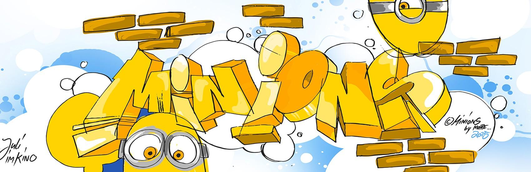Werbeagentur, Erkner, Graffiti, Event, Eventdesign, Minions, Miniondamm für Universal