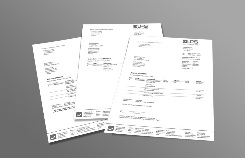 Magento-Shop - Bestellungspapiere