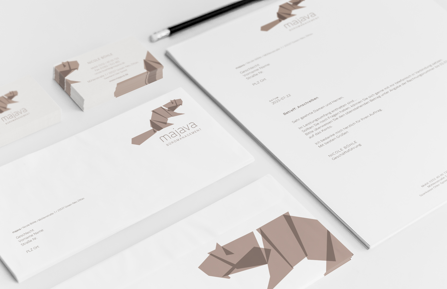 Corporate-Design - Visitenkarte - Majava