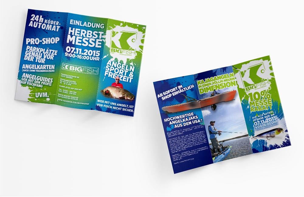 Corporate Design - die neuen Flyer von Bigfish Erkner