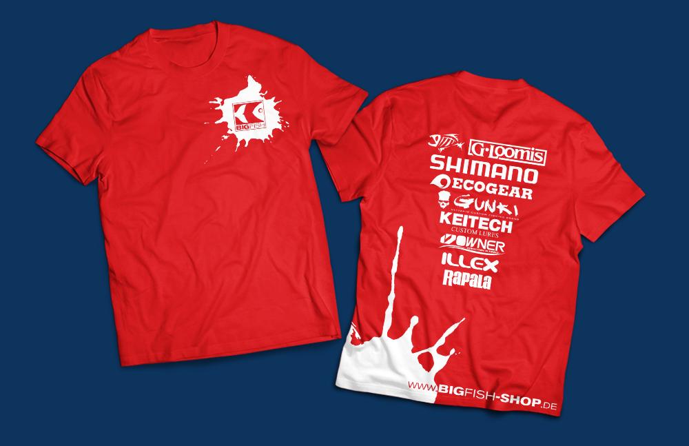 Corporate Design Relaunch - Shirts im neuen Layout - Bigfish Erkner